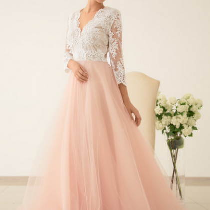 Cheap wedding dresses,Scalloped V N..
