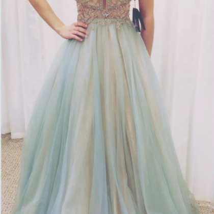 Beading Charming Prom Dress,Long Pr..