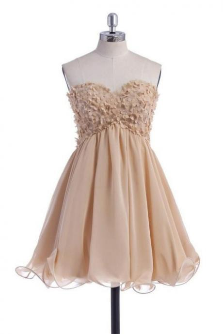 Short Sweetheart Pretty Cute Chiffon Homecoming Dresses