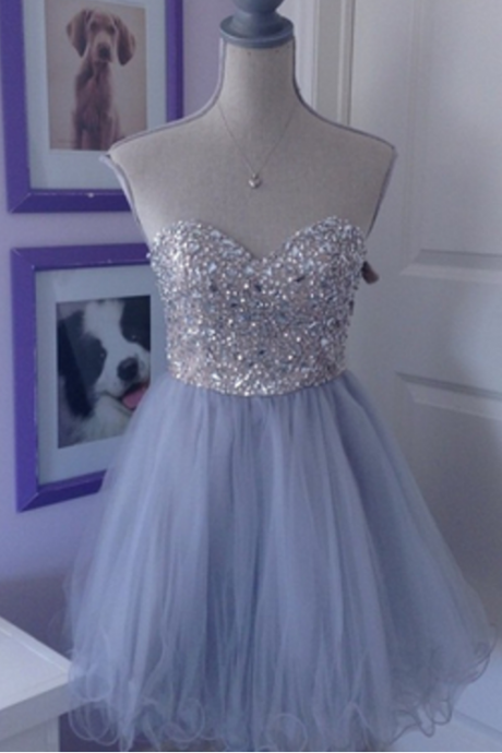 Homecoming Dresses, Shinny Rhinestone Homecoming Dresses, Organza Homecoming Dresses, Sweetheart Cute Homecoming Dresses, Charming Homecoming Dresses,