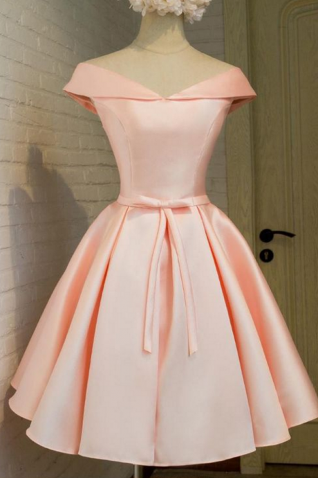 homecoming dresses,blush homecoming dresses,elegant homecoming dresses,Satin homecoming dresses,cheap pink