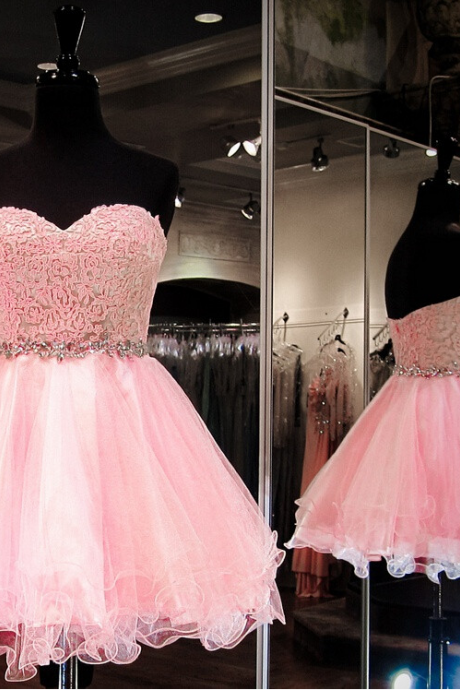 Bg1180 Pink Homecoming Dress,Tulle Homecoming Dresses,Short Prom Dresses