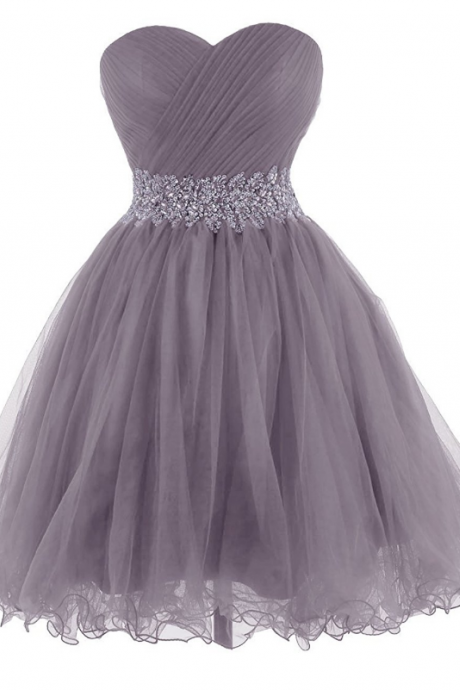Sweetheart Tulle Cocktail Dress Homecoming Dress