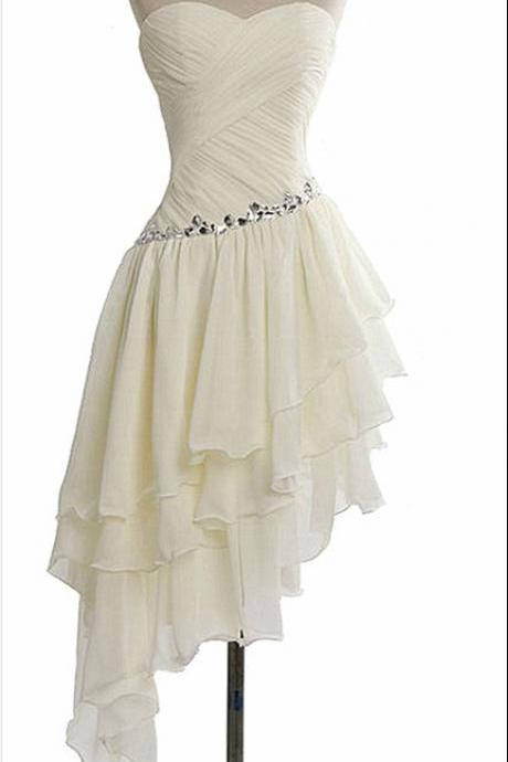 Dressytailor Charming Homecoming Dress Chiffon Homecoming Dress Pleat Homecoming Dress