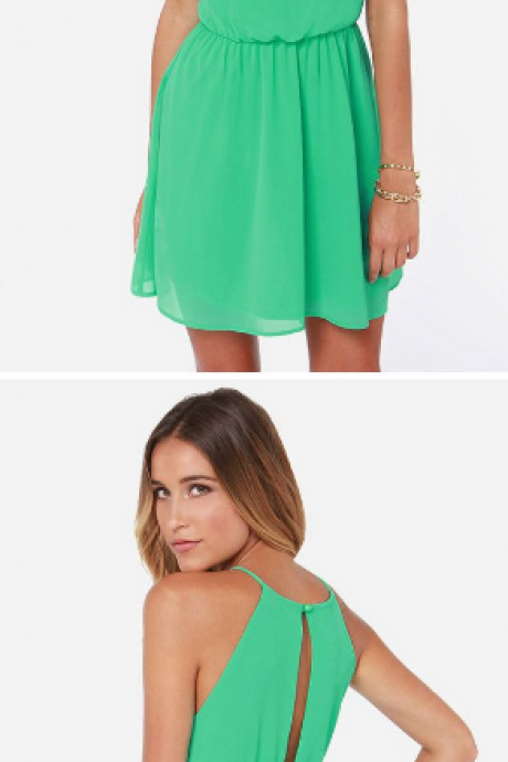 Simple Homecoming Dress,Chiffon Homecoming Dress,Cheap Homecoming Dress,Green Homecoming