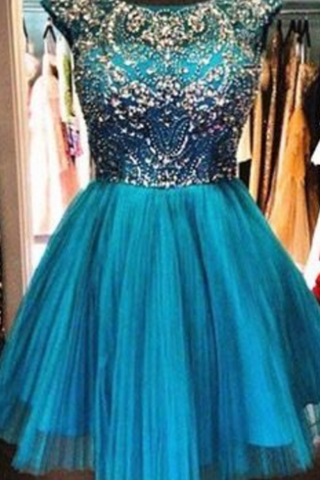New Arrival Homecoming Dresses, Rhinestone Homecoming Dresses, Tulle Homecoming Dresses, Charming Homecoming