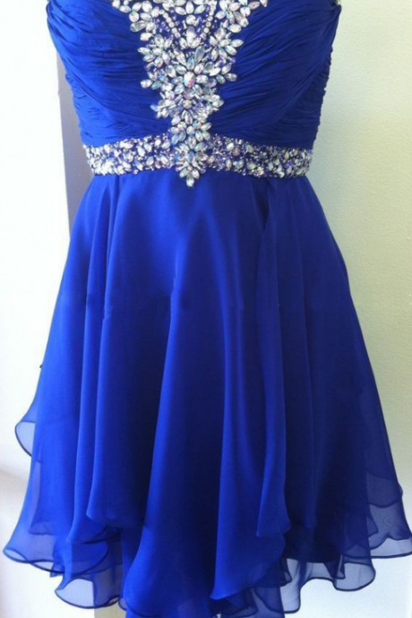 Homecoming Dresses,Rhinestone Homecoming Dresses,Navy Blue Homecoming Dresses,Sweetheart