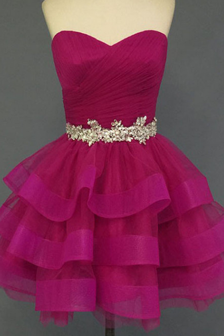 Sweetheart Bandage Homecoming Dress,Organza Homecoming Dresses