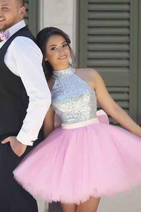2017 homecoming dress, short homecoming dress, pink homecoming dress, sparkly sequins homecoming dress party dress