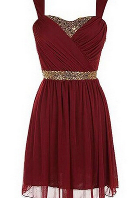 Elegant A-line Homecoming Dress, Sweetheart Knee-length Homecoming Dress,Red Homecoming Dresses