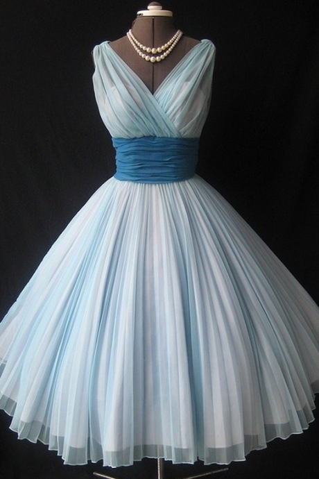 V-Neck Chiffon Homecoming Dress,A-Line Homecoming Dresses