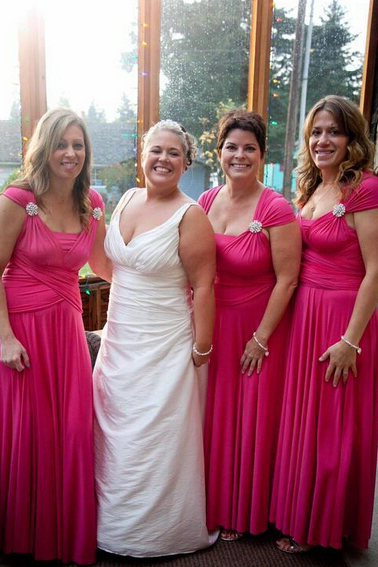 Bridesmaid Dresses,Bridesmaid Dress,Chiffon Bridesmaid Dress,Fuchsia Bridesmaid Dresses,Long Bridesmaid