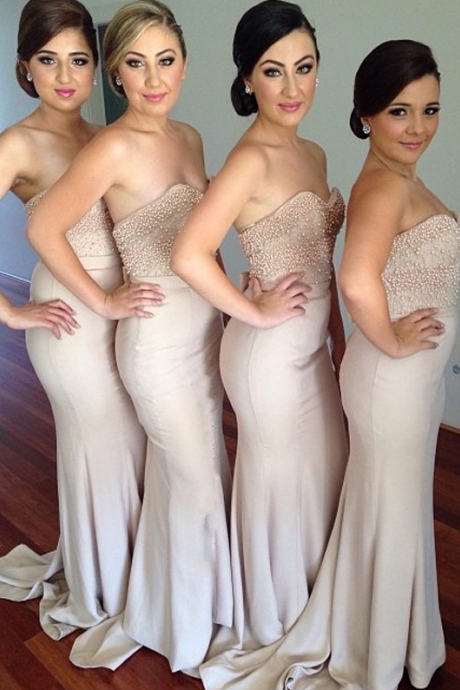 long bridesmaid dresses,mermaid bridesmaid dresses, sweetheart bridesmaid dresses,sleeveless bridesmaid