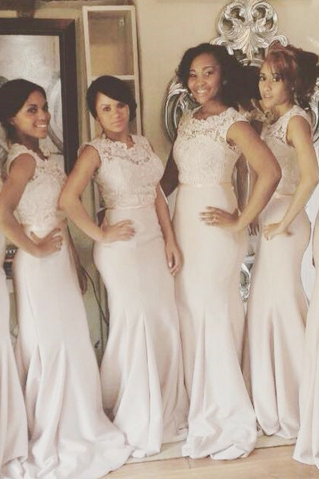 long bridesmaid dresses,white bridesmaid dresses ,lace bridesmaid dresses,mermaid bridesmaid dresses,cheap