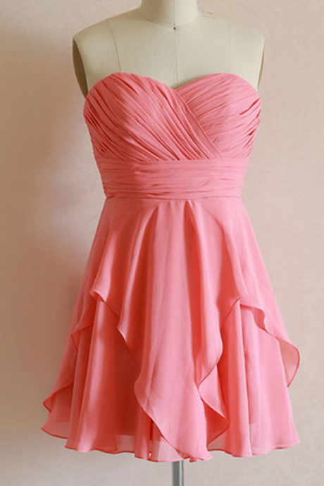 Bridesmaid Gown,Summer Bridesmaid Gowns,Beach Bridesmaid Dress,Strapless Bridesmaid Gown,Bridesmaid