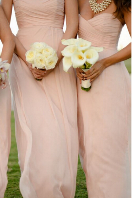 Cheap bridesmaid dresses 2017,Elegant Sweetheart Floor Length Pearl Pink Bridesmaid Dresses, Bridesmaid Dresses,