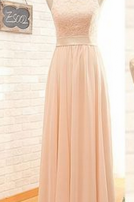 Blush pink bridesmaid dresses, lace bridesmaid dresses, chiffon bridesmaid dresses, long bridesmaid dresses,