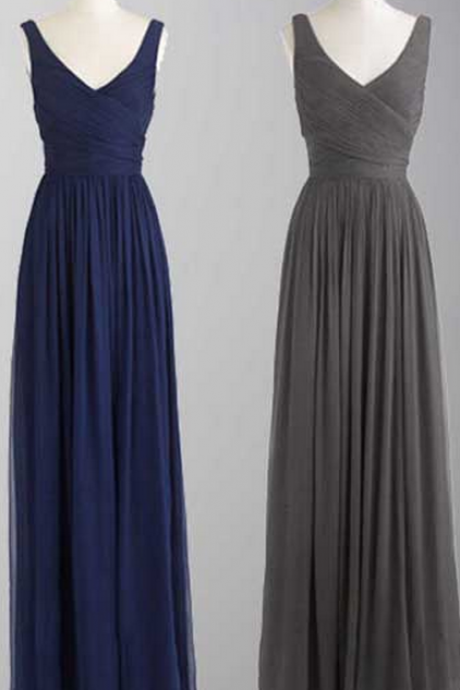long bridesmaid dress, chiffon bridesmaid dress, cheap bridesmaid dress, simple bridesmaid dress