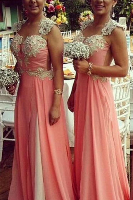 bridesmaid Dress,Bridesmaid Dresses,Sexy Spaghetti Long Bridesmaid Dresses ,Lace Wedding Party Dresses