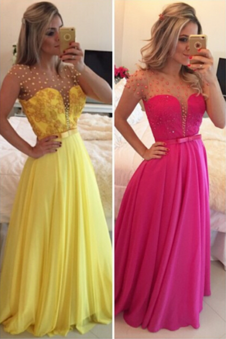 Beading Prom Dresses, Sexy Floor-Length Prom Dresses, Real Made Evening Dresses,Chiffon Zipper Evening Dresses, Evening Dresses On Sale