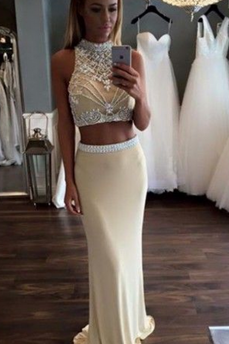 New Arrival Sexy prom dress,2 Pieces prom dresses,Long Prom Dresses, Long Evening Dresses,Formal Dresses