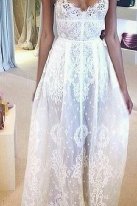 Custom Made A Line Long Lace Prom Dresses, A Line Long Lace Wedding Dresses, Dresses for Prom