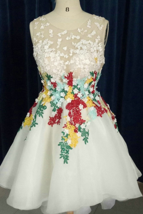 Flowers Homecoming Dress For Saudi Arabia Vestidos de Fiesta