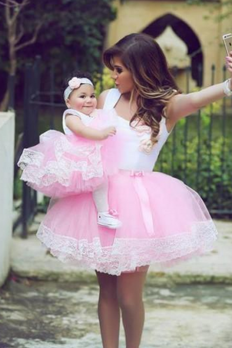 ,Pink Prom Dress,Tulle Prom Dress,Fashion Homecoming Dress