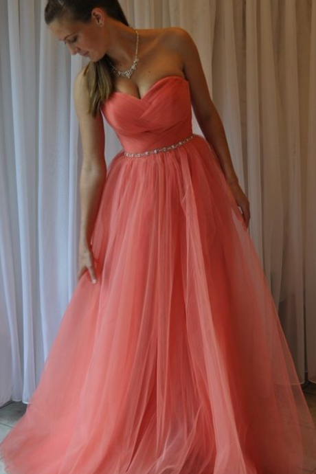 Custom Charming Chiffon Prom Dress,Sexy Sweetheart Evening Gown