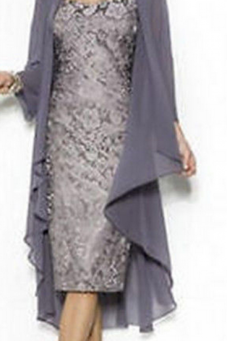 Mouse over image to zoom Free-Jacket-New-Short-Lace-Mother-of-the-Bride-dress-Evening-Formal-Dress