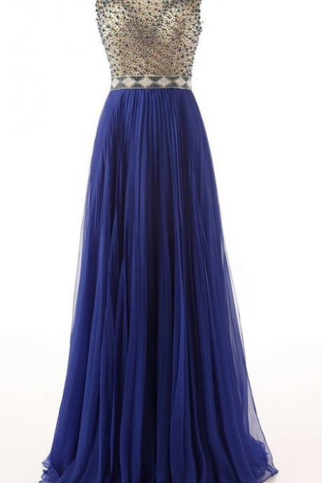 Amazing Cap Sleeves Long Evening Dresses,New Beading Chiffon Prom Dresses,Beautiful Women Dresses