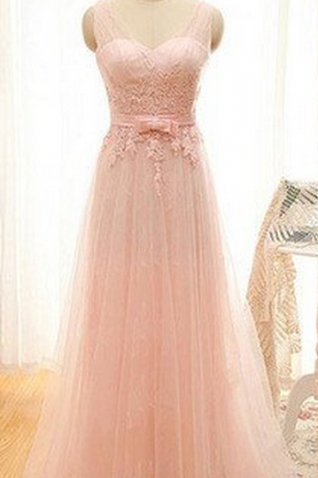 Pink Prom Dress,tulle Prom Dress, lace Prom Dress,long Prom Dress,dresses for prom,cheap prom dress