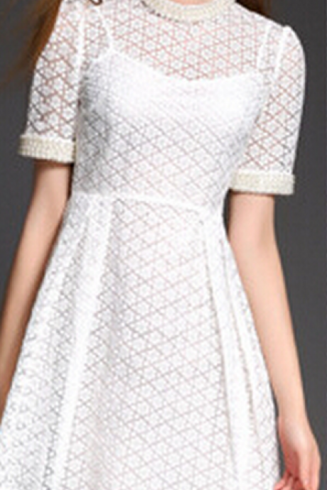 Luxury Order Bead Water Soluble Embroidery Dress Dress