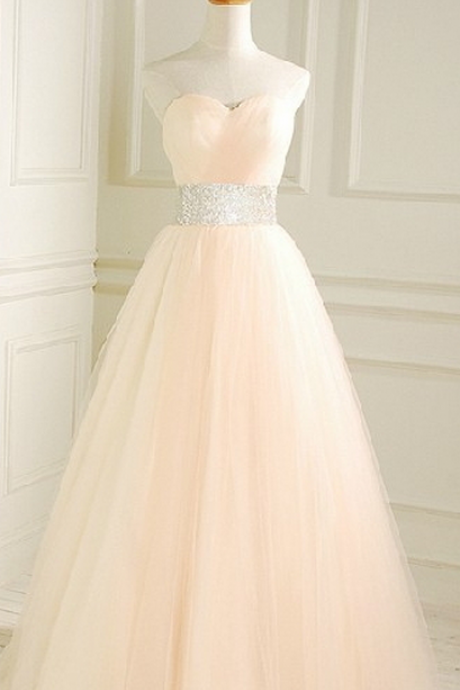 New Arrival Long Evening Dress,Sleeveless Open Back Tulle Evening Dress,Sexy Prom Dresses,Formal Gowns