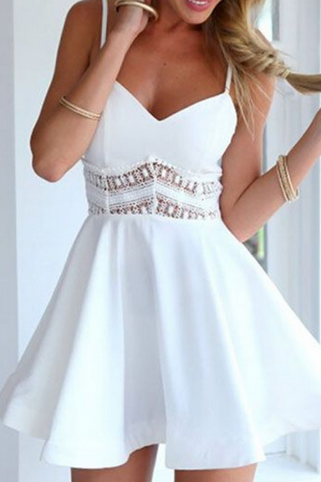 Homecoming Dress,white prom dress,short prom dresses,homecoming dresses,modest homecoming dress,