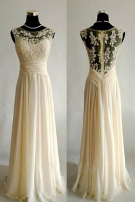 Appliques A-line Chiffon Prom Dresses Prom Gowns,Prom Dresses
