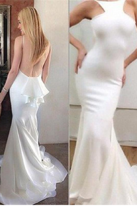 sexy prom dresses,mermaid prom dresses,backless prom dresses,white prom dresses