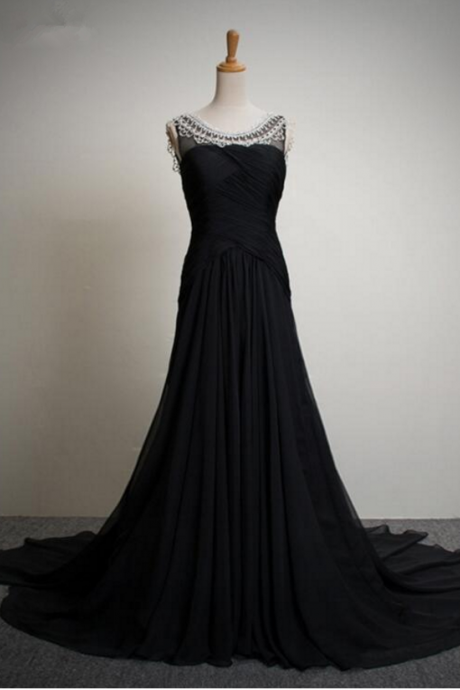 black top quality rhinestones women dress party dress long evening dresses