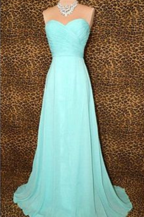 Strapless Sleeveless Prom Dress, Sweatheart Neck Prom Dress,high quality prom dress,chiffion prom dress
