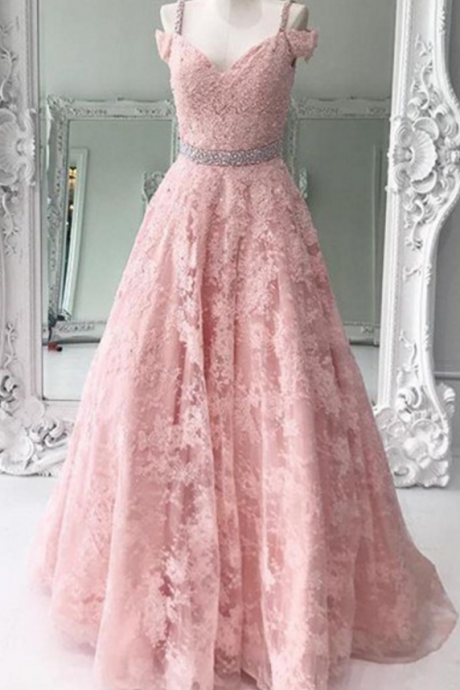 Pink bespoke ball gown for PROM dress.prom dress