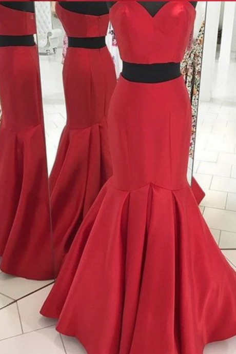 Red 2 Pieces Prom Dress Red 2 Pieces Prom Dress evening dresses