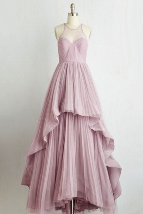 Illusion Sweetheart Pleated Formal Occasion Dress