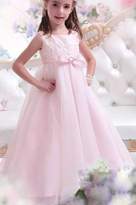 Flower girl dress,pink flower girl dress,princess flower girl dress,high quality girls party dresses, girls christmas dresses,