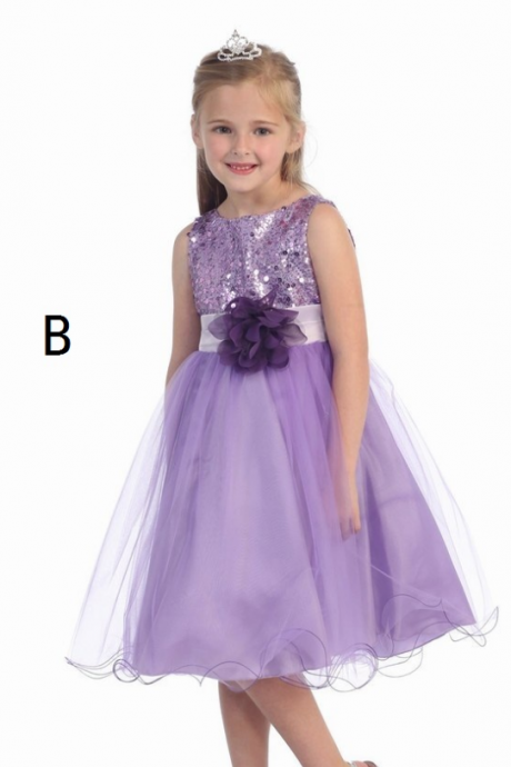 princess Sequins flower girl dress,girls party dresses,pageant flower girl dresses,prom dress,kids dresses