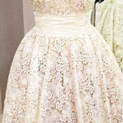 Charming Homecoming Dresses,Lace Graduation Dresses ,white Homecoming Dress,Short/Mini Homecoming Dress