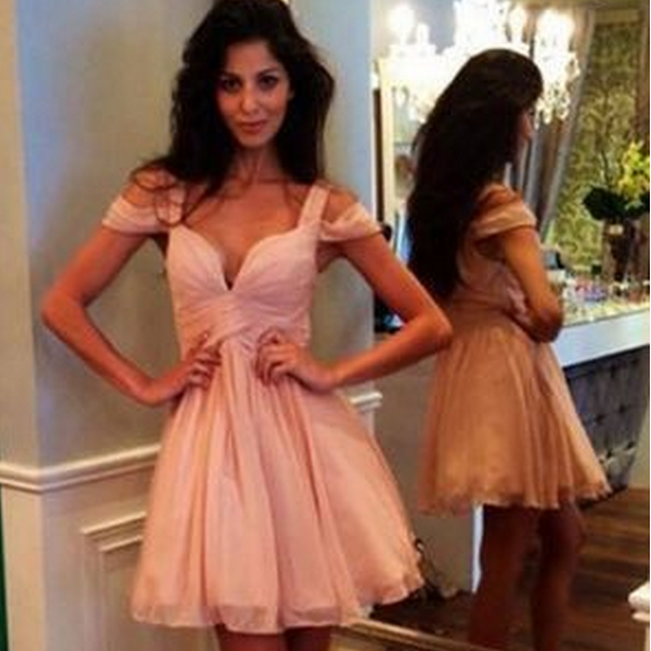 Charming Homecoming Dresses,Pink Graduation Dresses ,Homecoming Dress,Short/Mini Homecoming Dress