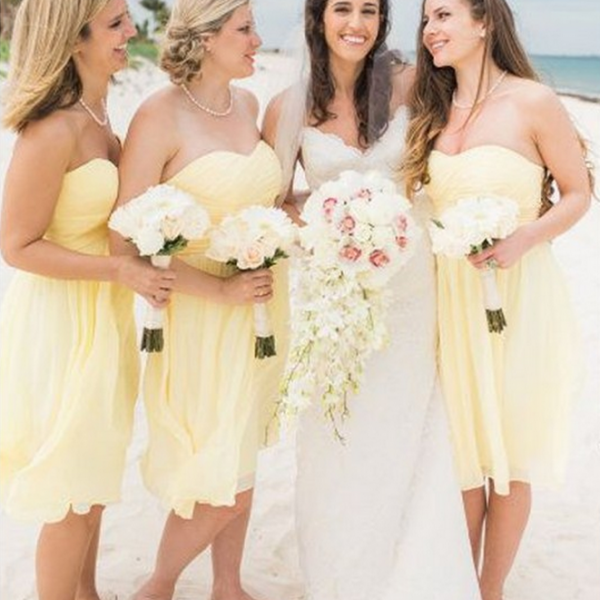Charming Bridesmaid Dress,Chiffon Bridesmaid Dresses,Short Bridesmaid Dresses F2072