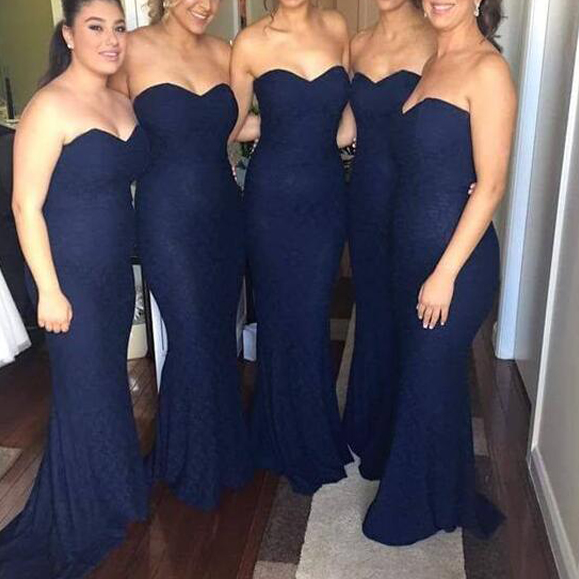Bridesmaid Dresses,Long Bridesmaid Dresses ,Mermaid Bridesmaid Dresses ,Dark Navy Bridesmaid