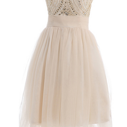 champagne homecoming dress, junior homecoming dress, lovely homecoming dress,